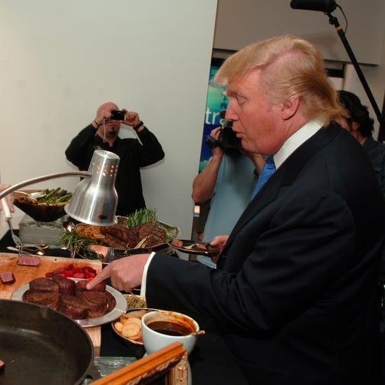 Donald Trump Served Steak and Ketchup in Saudi Arabia