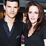 Taylor Lautner and Kristen Stewart stuck together at the LA Film Festival.