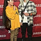Jenna Ortega and Asher Angel as Ariana Grande and Pete Davidson in 2018