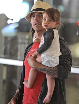 Anthony and Everly Kiedis Fly Back to Cali