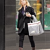 Claire Danes sported a pair of brown boots and jeans as she walked in Toronto.