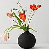 Matte Textured Round Vase