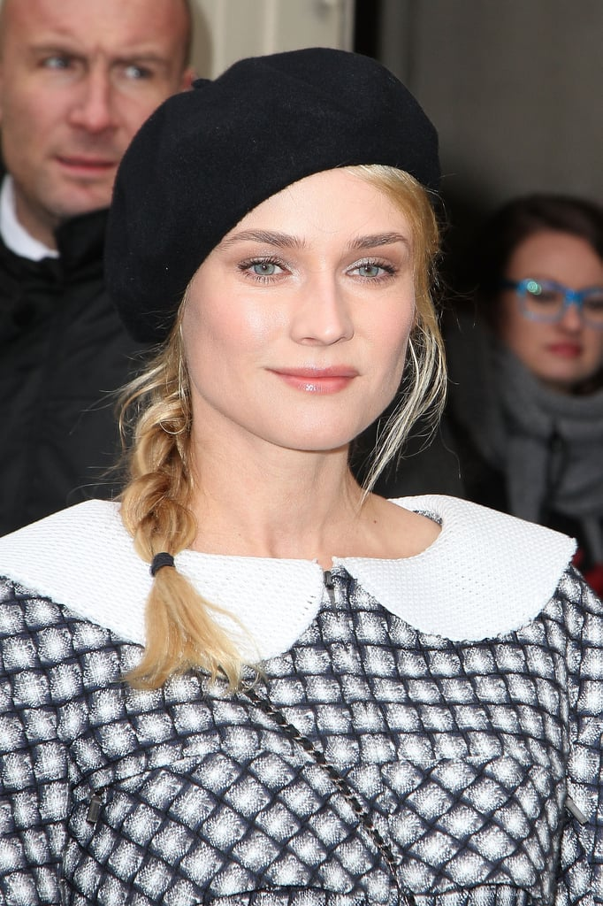 A cute chapeau coupled with a braid, like Diane Kruger did during Spring 2013 Fashion Week in Paris, is a great option for bad hair days.