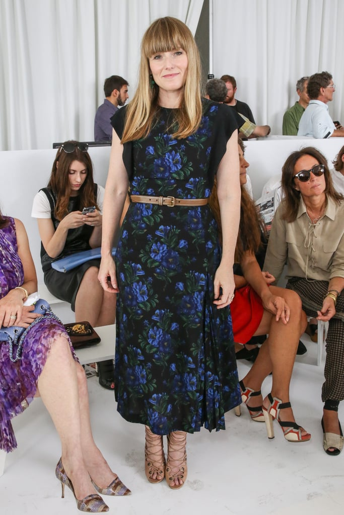 Amy Astley belted her floral design in the front row of Philosophy by Natalie Ratabesi.