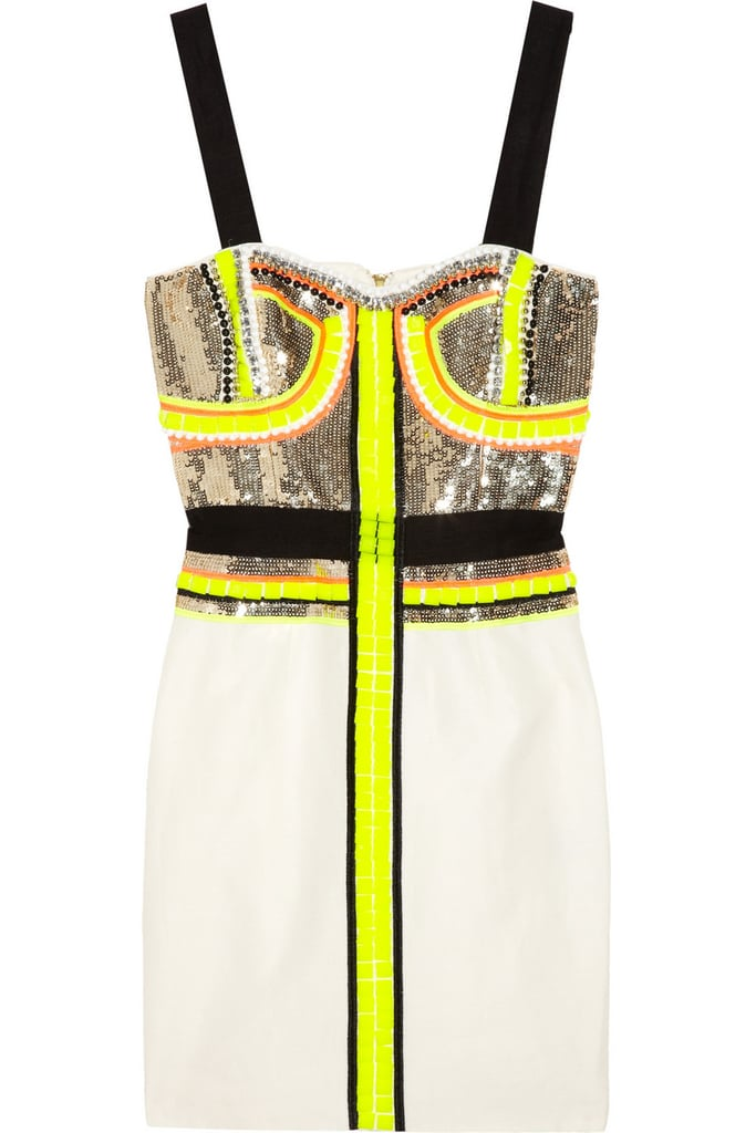 This Sass & Bide dress was made for holiday parties — snap it up now! Sass & Bide Stripe Effect Embellished Dress ($730)