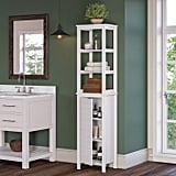 Tall Linen Cabinet With Open Shelves