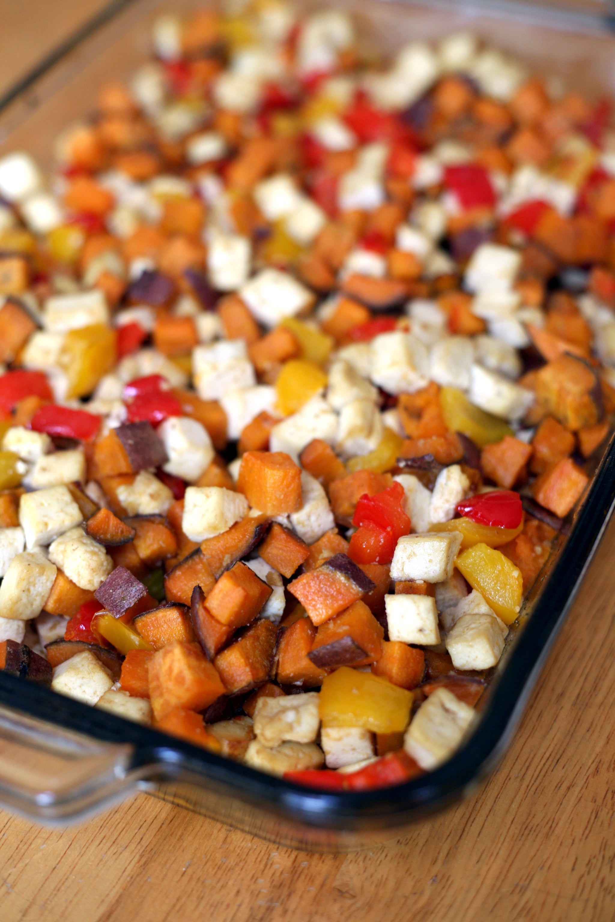 Roasted Tofu, Sweet Potato, Pepper 1-Pan Meal | POPSUGAR Fitness UK