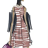 A sketch from the first Banana Republic Issa London collection.