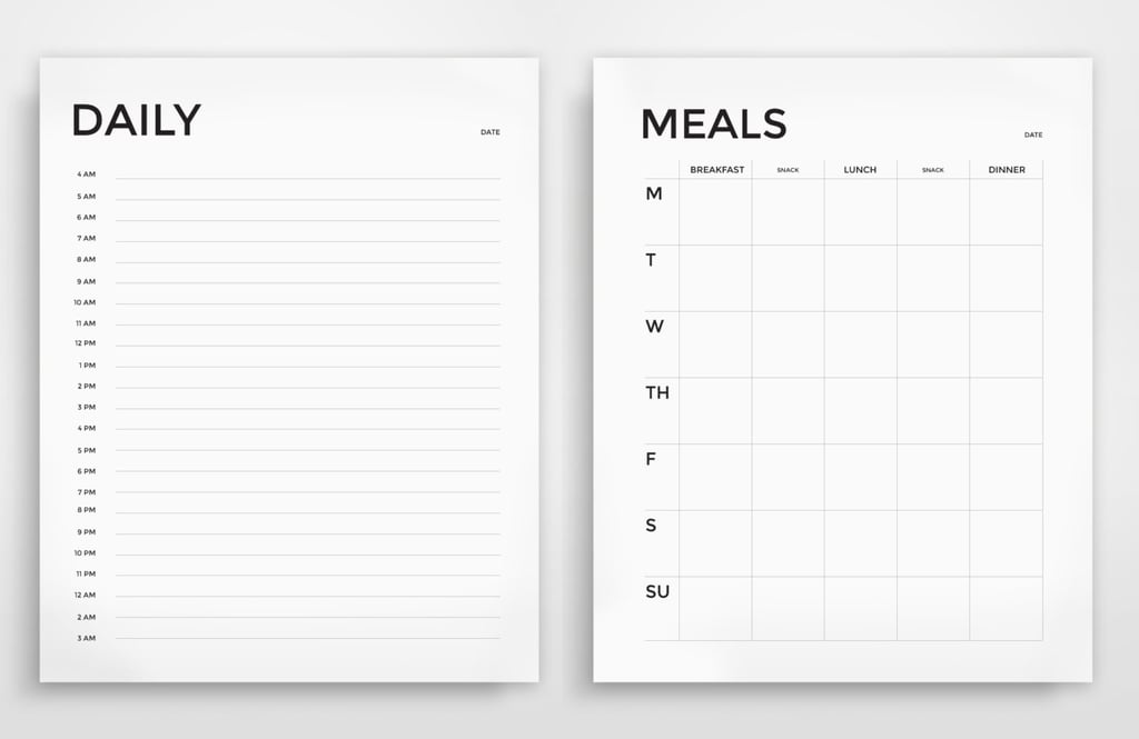 photo about Printable Meal Plan identified as Printable Everyday and Weekly Evening meal Planner ($4) Printable