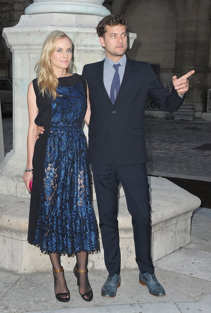 Diane Kruger and Joshua Jackson dress up for a fancy French party.