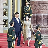Peng Liyuan Knows the Regal Appeal of a Silk Robe