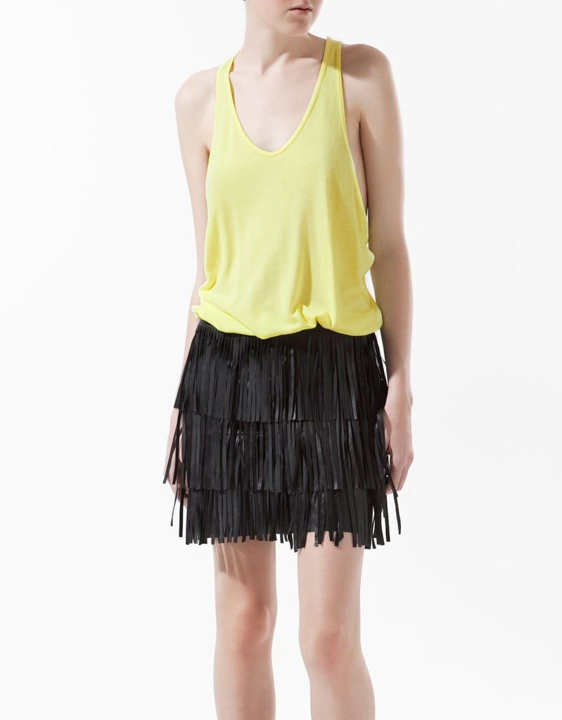 An airy tank in a striking neon yellow hue.  Zara Oversized Tank Top ($17)