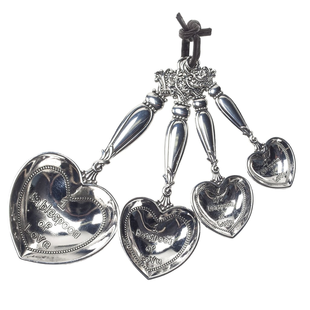 Heart-shaped Measuring Spoons ($42) give new meaning to baked with love!