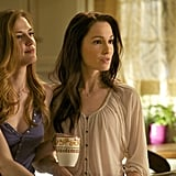 Sara Canning and Erin Beute in The Vampire Diaries.
