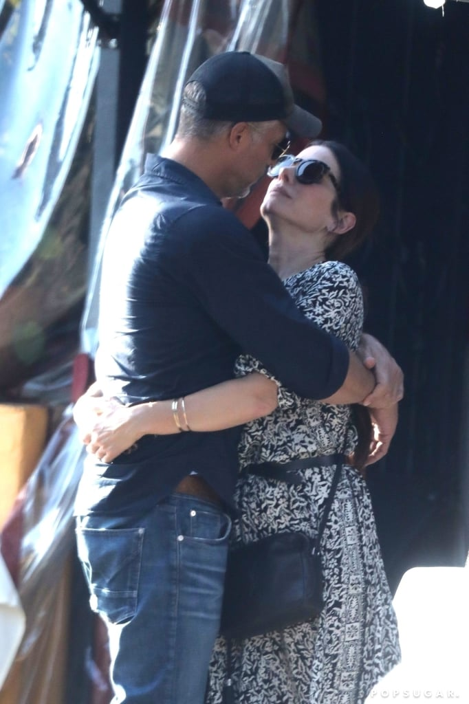 "Sandra Bullock and Bryan Randall are still going strong! On Oct. 14, the couple, who tend to keep a low profile, were spotted packing on the PDA outside of Piccolino restaurant in LA. Sandra and Bryan just couldn't seem to keep their hands off each other as they hugged and shared a sweet kiss.        Related:                                                                                                           7 Famous Women Who Flawlessly Bounced Back After Bad Breakups               The pair first got together back in August 2015, and according to Us Weekly, Sandra and Bryan are reportedly thinking about secretly tying the knot. ""Since Bryan has never been married, it's definitely something he wants,"" a source explained. Sandra was previously married to Jesse James and has two adopted children, 7-year-old son Louis and 5-year-old daughter Laila. According to the insider, Bryan ""has taken on the role of raising the two kids with Sandra and he's talking about wanting more children."" Sandra and Bryan have yet to confirm anything, so only time will tell."