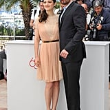 Marion Cotillard posed with her costar at the Rust and Bone photocall at the Cannes Film Festival.