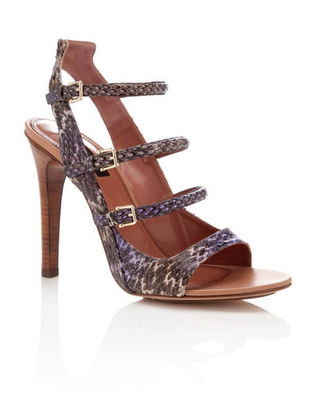 Summer sandals are instantly dressier in an exotic skin like this multistrap Derek Lam pair ($290, originally $580).