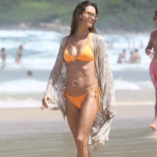 Alessandra Ambrosio Orange Bikini