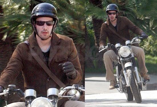 Keanu Reeves On a Motorcycle