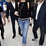 To Finish Cropped Boyfriend Jeans at the Airport