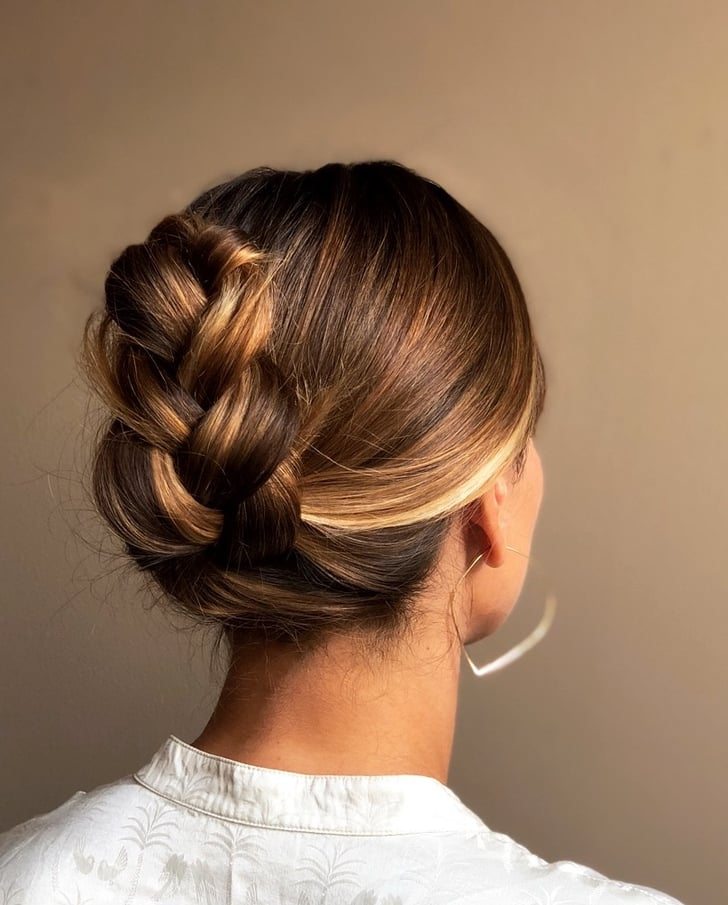 Easy French Braid Ponytail Tuck How To Tutorial Photos Popsugar Beauty