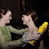 Emma Stone and Julianne Moore