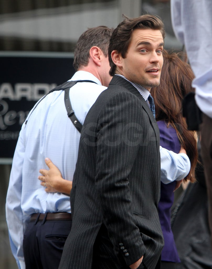 Matt Bomer quickly changed into a suit.