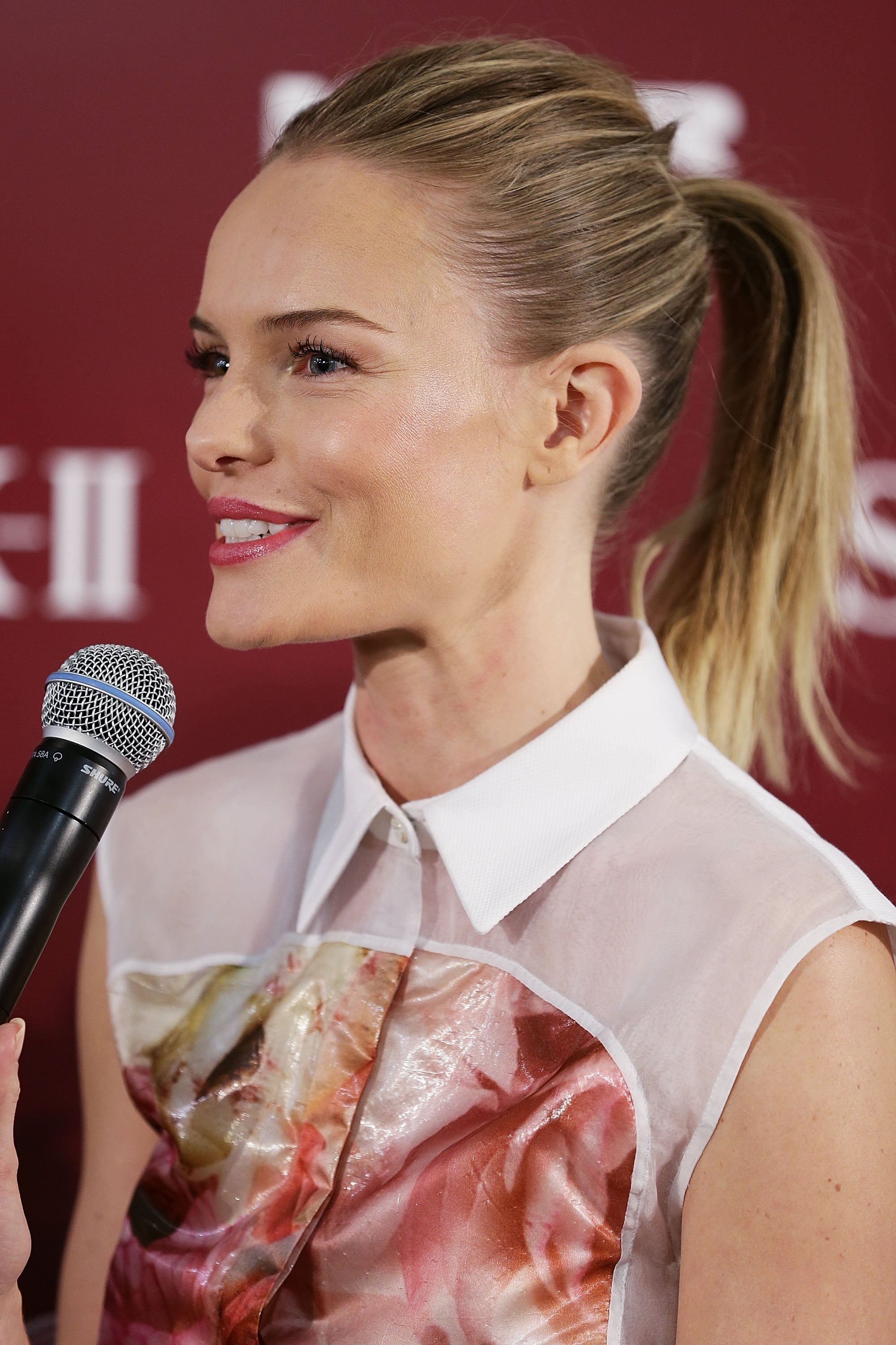 Kate Bosworth had a smile on her face to promote her skin care line in Sydney.