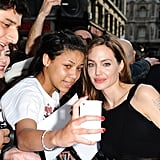 Angelina Jolie Returns to the Red Carpet With Brad, Maddox, and Pax
