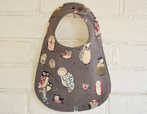 Owl Bib by Little Pigeon Crafts