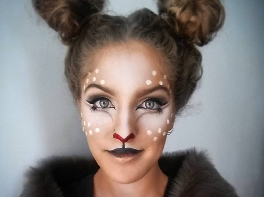 Deer Makeup Ideas For Halloween POPSUGAR Beauty - Makeup Mask Ideas
