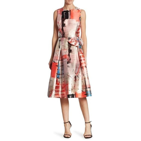 Teri Jon by Rickie Freeman Printed Cocktail Dress