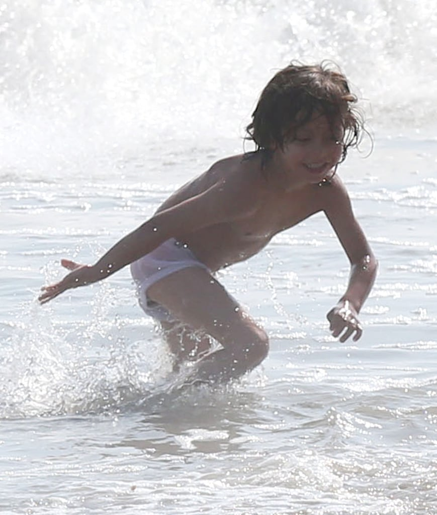 Max Anthony played in the water in Malibu, CA.