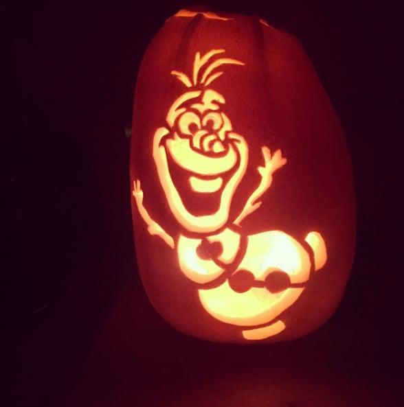 Olaf carving frozen pumpkin ideas popsugar moms photo