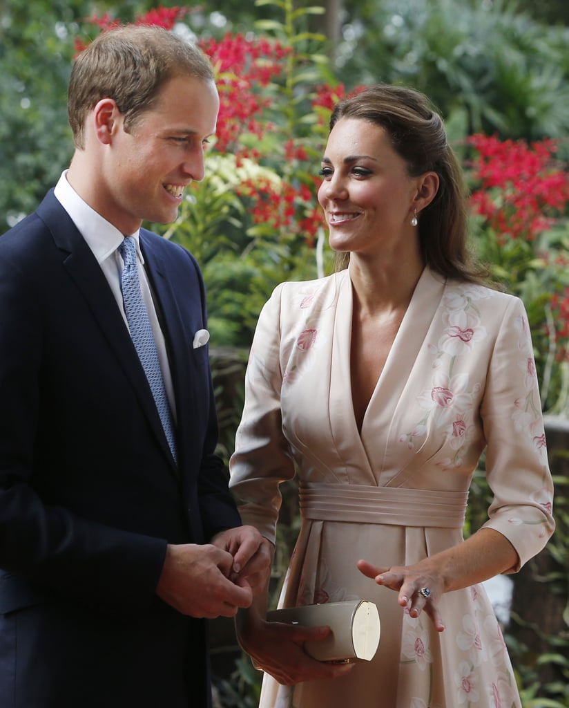 Kate Middleton kept her eyes on Prince William on day one.