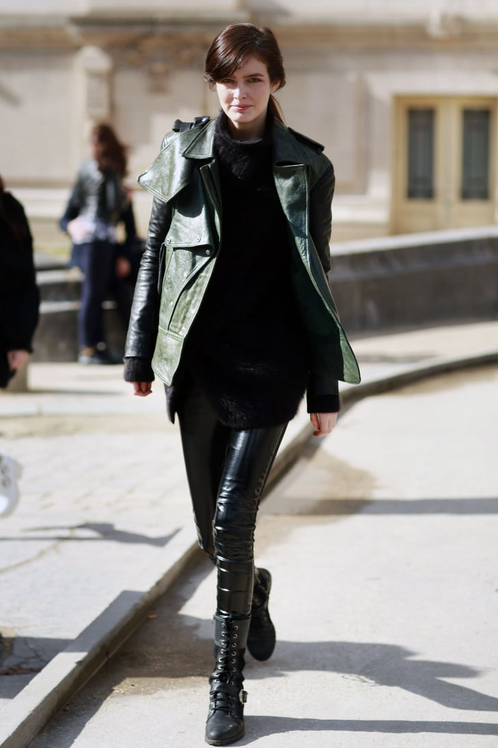 Pfw Model Street Style Day Three Model Street Style At