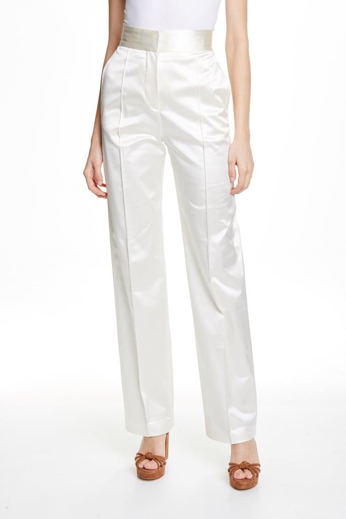 White Satin Tailored Pant