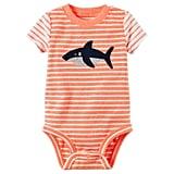 Carter's Baby Boy Striped Shark Bodysuit