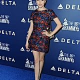 Anna Kendrick struck a pose at the Delta party.