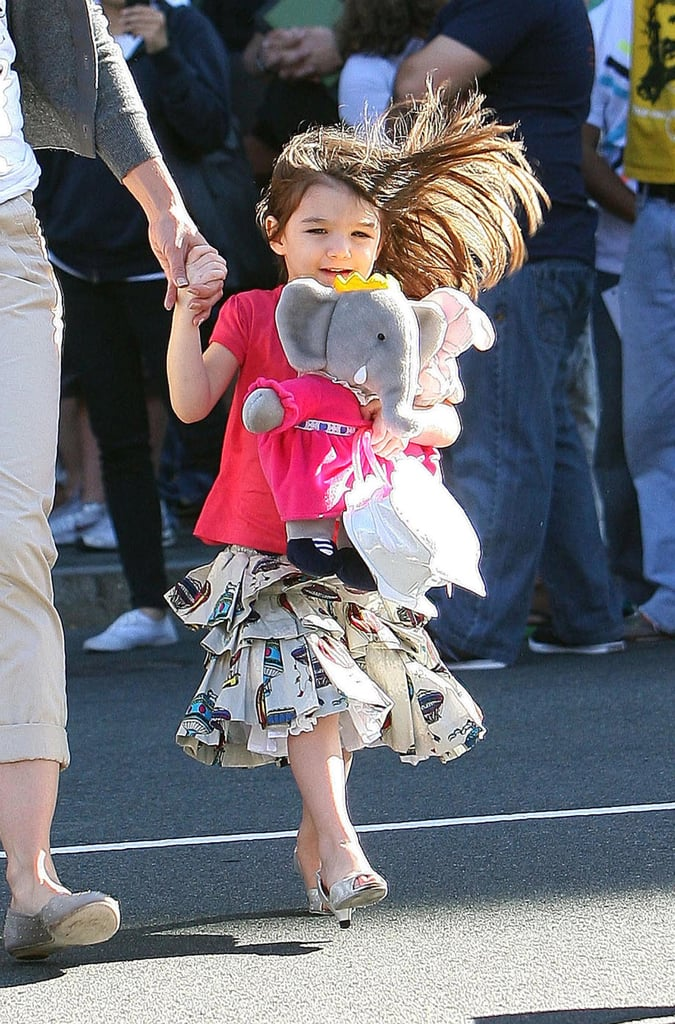 Suri Cruise Wearing Silver High Heels