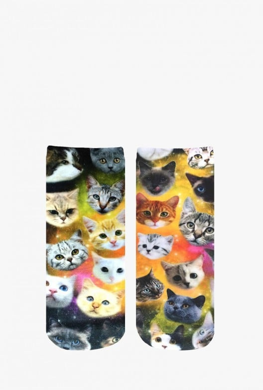 Galaxy Cat Socks ($10)