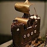Ship-Shaped Cake