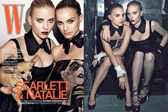 Natalie Portman and Scarlett Johansson For W Magazine
