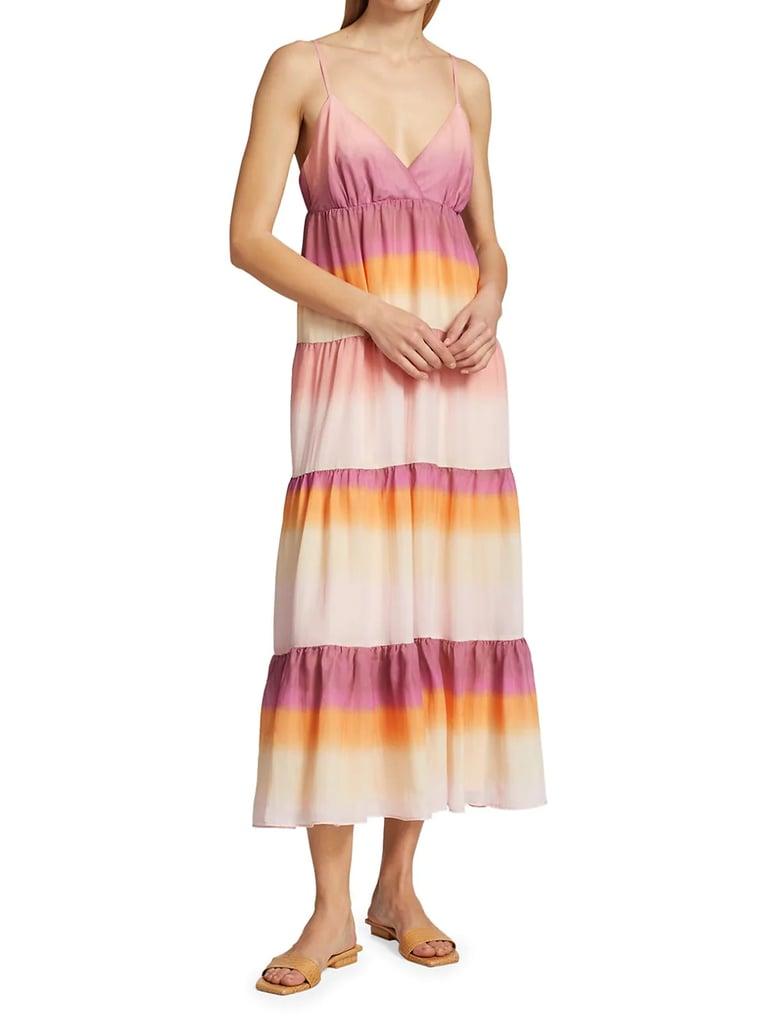Wayf Delma Tiered Slip Dress