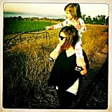 Tiffani Thiessen and Harper took a hike while on a family camping trip. Source: Instagram user tathiessen
