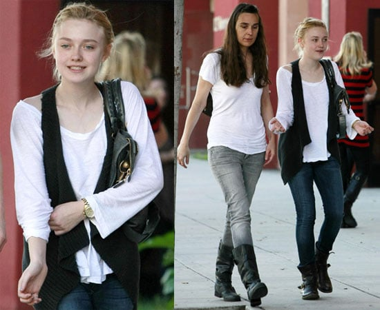 Photos of Dakota Fanning Shopping With Her Mother in LA on ...