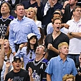 Ellen Page and Alexander Skarsgard sat together at the LA Kings Stanley Cup finals game in LA.