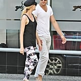 Joshua Jackson and Diane Kruger took a walk in Vancouver.
