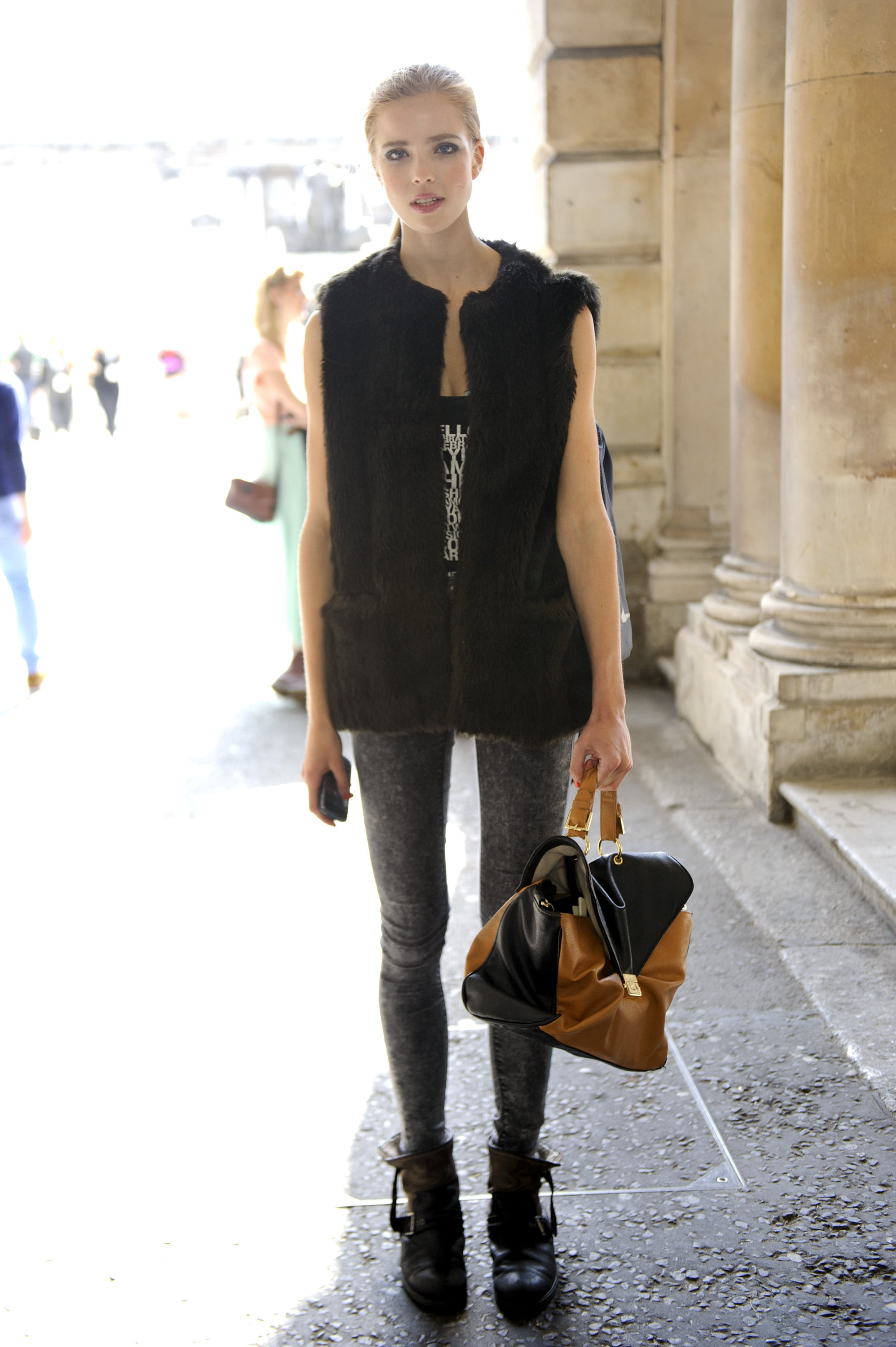 An easy way to warm up a low-key ensemble? One seriously textured (and oversized) vest.