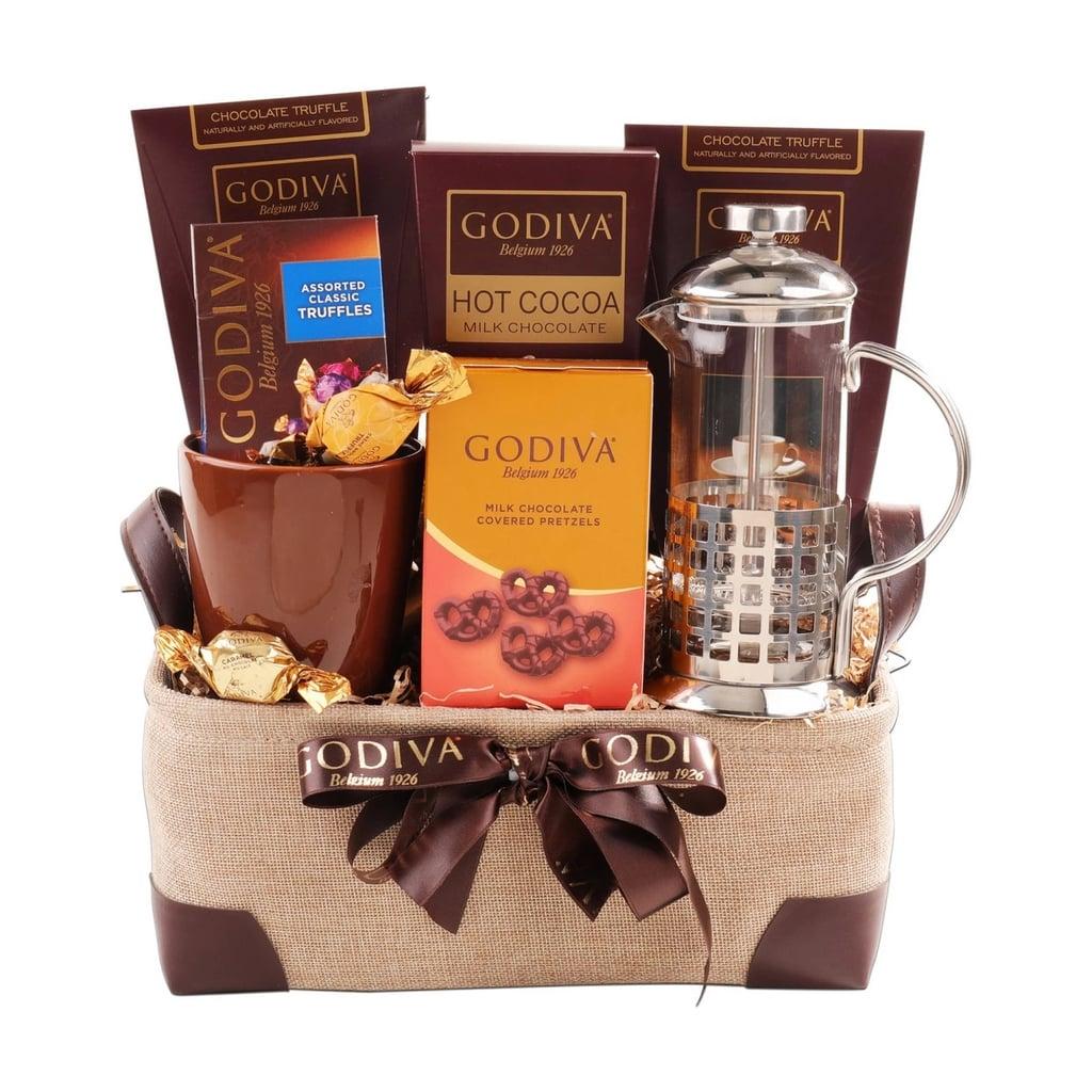 Alder Creek Gifts Godiva Coffee and Press Christmas Gift Basket ...